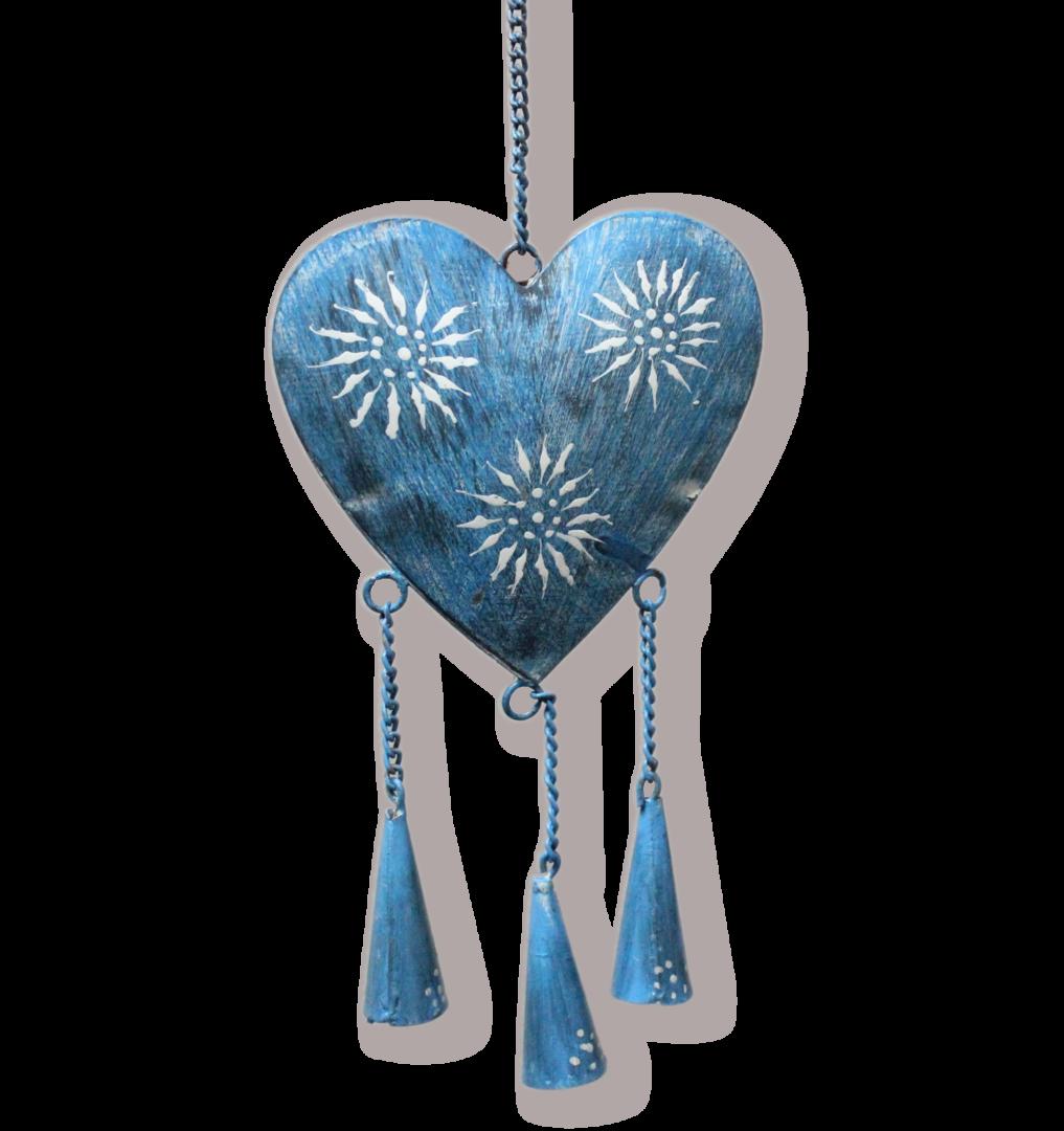 Herz H Nger Aus Metall Mit Gl Ckchen Haus Der Herzen