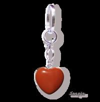 Jaspis Edelstein Herz Schlüsselanhänger