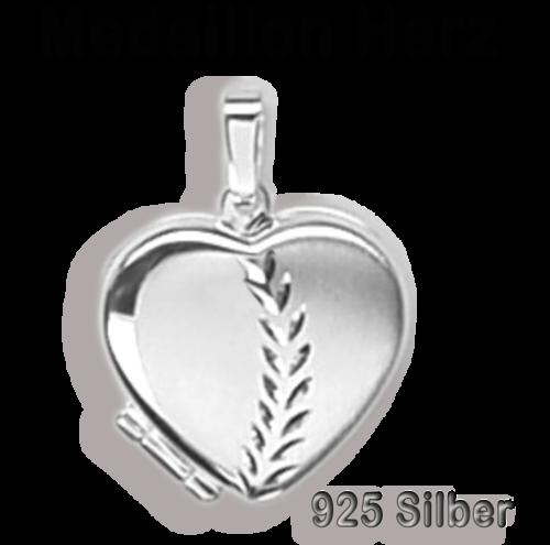 Anhänger Medaillon Herz 925 Silber Herzform zum Öffnen / Bildeinlage