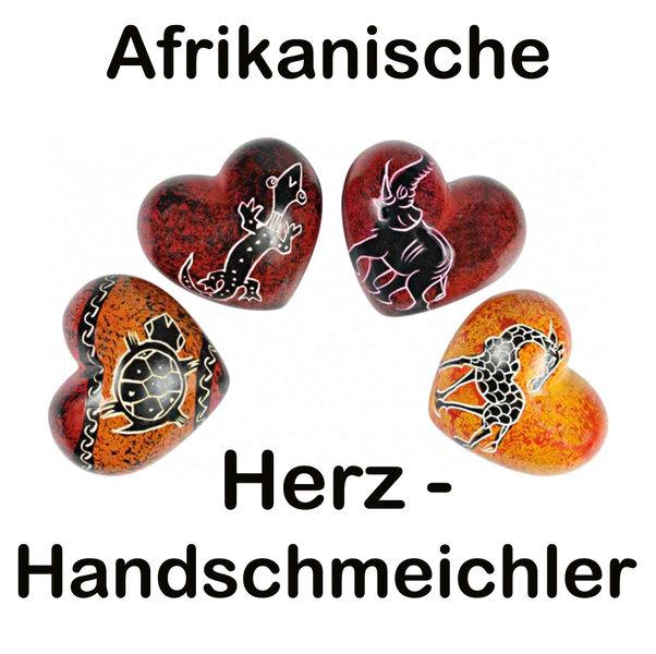 Herz Handschmeichler aus Afrika, Speckstein - Handarbeit