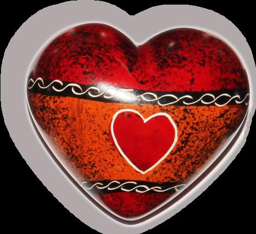 Herz Handschmeichler aus Afrika, Speckstein - Liebe