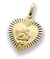 Herzanhänger mit Engel - Schutzengel