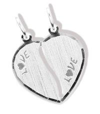 Herz Anhänger - Love - teilbarer Doppelanhänger