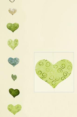 Girlande Windspiel Herz aus Capiz-Muschel