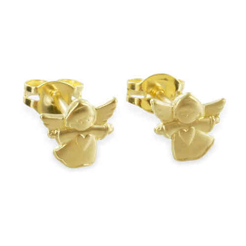 Ohrstecker Engel mit Herz 333 Gold