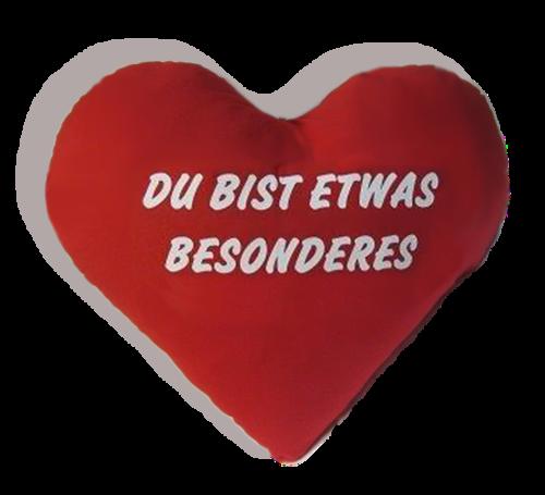 Herz Kissen - Plüschkissen - Kissenherz - Herzkissen - Extra groß 60 cm