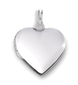 Anhänger Medaillon Herz 925 Silber Herzform zum Öffnen