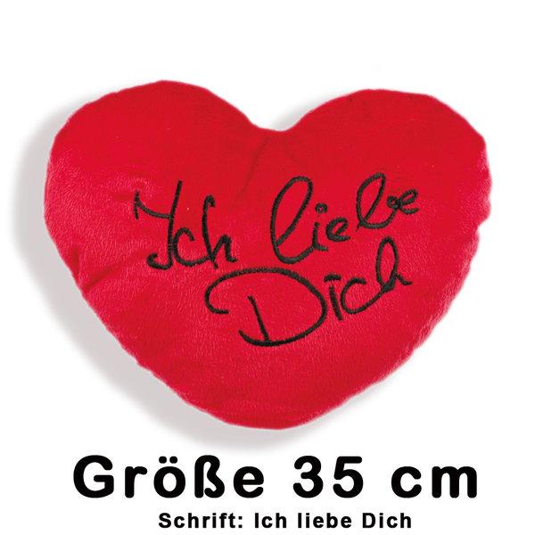 Herz Kissen - Plüschkissen - Kissenherz