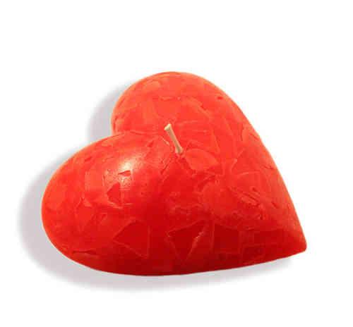 Kerze in Herzform Herzkerze