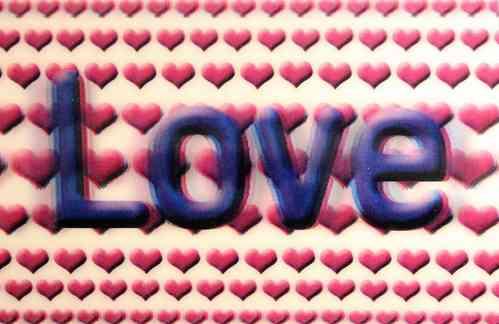 3D Postkarte - Love  -