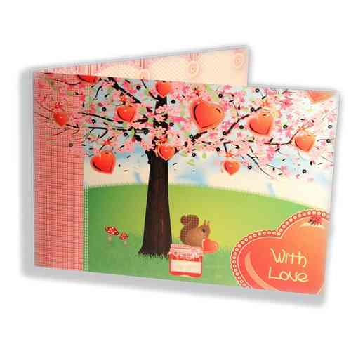 Klappkarte mit Umschlag - With Love  -