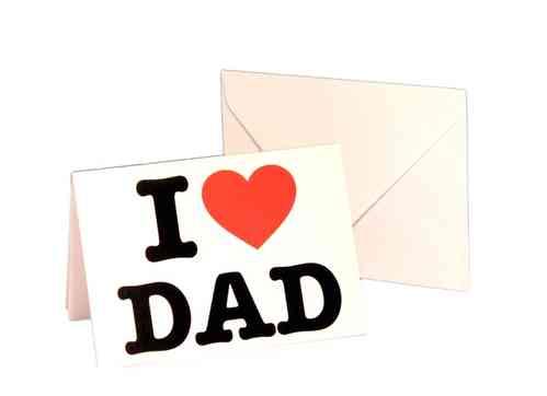 Klappkarte mit Umschlag - I LOVE DAD  -
