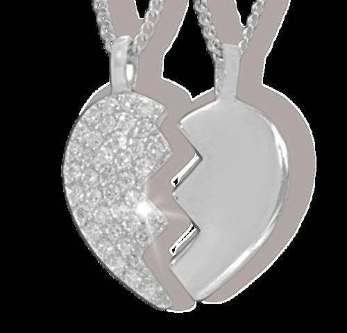 Partneranhänger 2-teilig 925 Silber