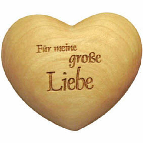 Holzherz mit Beschriftung - Für meine große Liebe