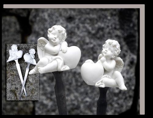 Schutzengel / Glücksengel Stecker mit Herz