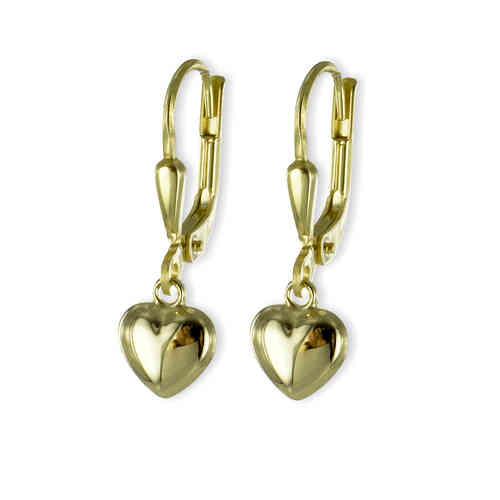 Ohrhänger Herzen 333 Gold