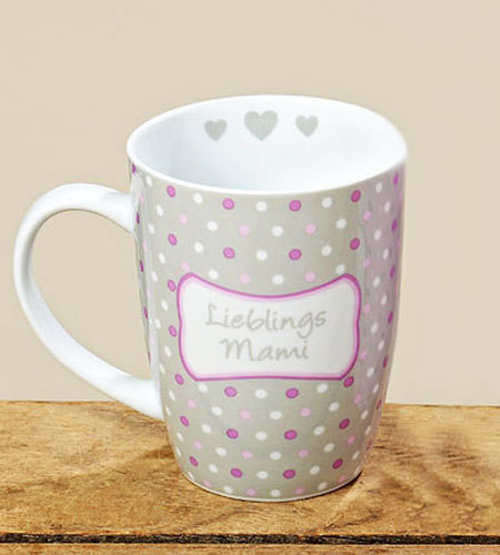 Tasse Kaffeebecher Kaffeetasse Becher Teetasse - mit Herz Design Lieblings Mami