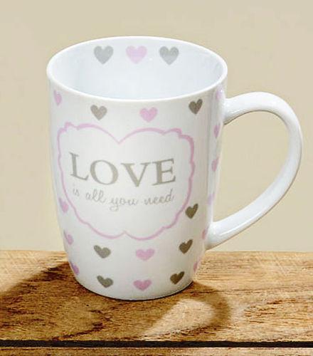 Tasse Kaffeebecher Kaffeetasse Becher Teetasse - mit Herz Design Love