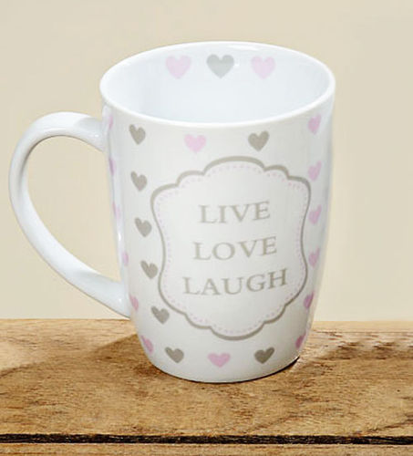 Tasse Kaffeebecher Kaffeetasse Becher Teetasse - mit Herz Design Live