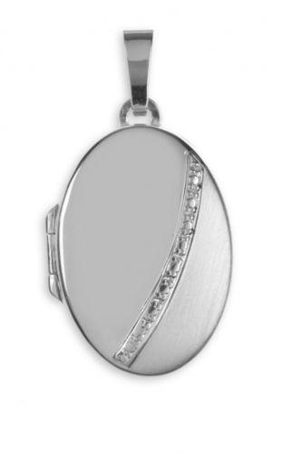 Anhänger Medaillon Oval 925 Silber zum Öffnen