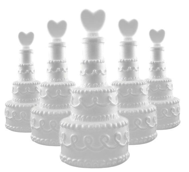 24x Seifenblasen Torte mit Herz Wedding Bubbles Hochzeit Gastgeschenk Liebe oder Valentinstag