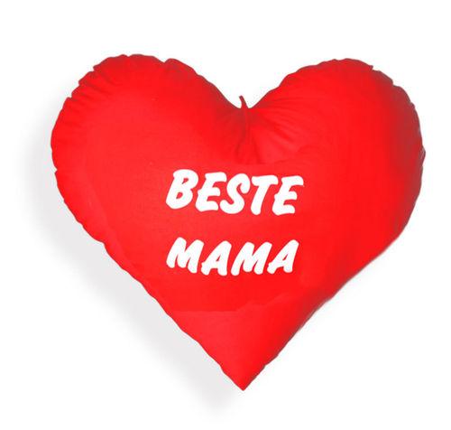 Herz Kissen - Plüschkissen - Kissenherz - Herzkissen - Extra groß 60 cm Beste Mama