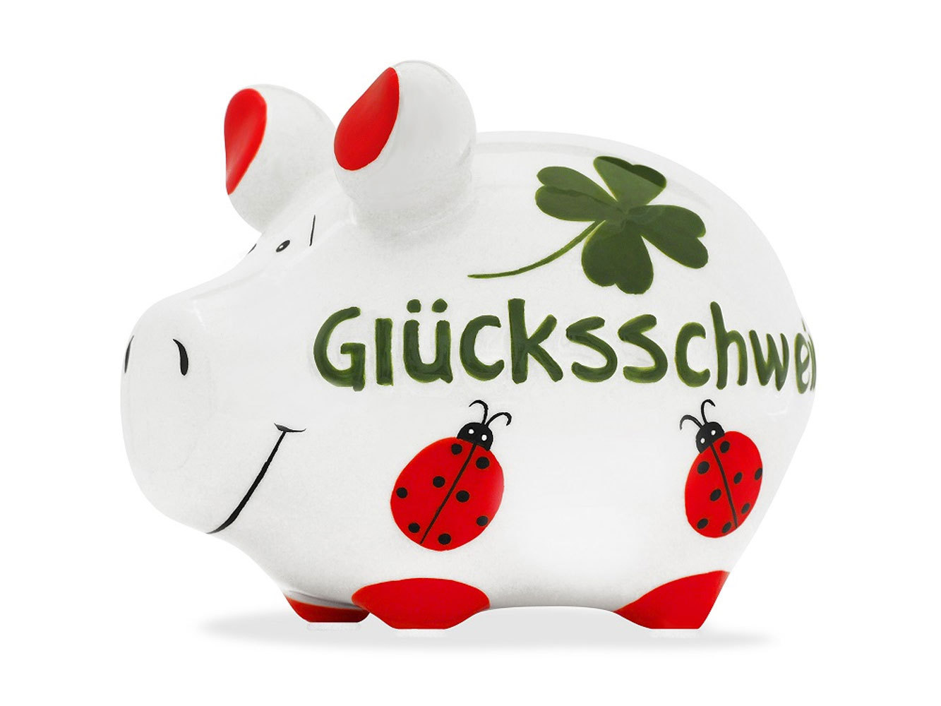 Sparschwein Glücksschwein Käfer Spardose Sparbüchse Keramik Geldgeschenk