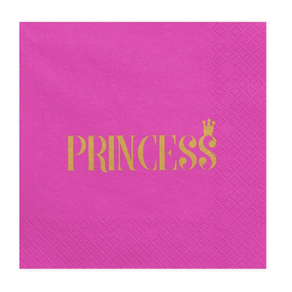 Geburtstags-Servietten Princess Motiv pink rosa Kindergeburtstag Party Feier Tischdeko
