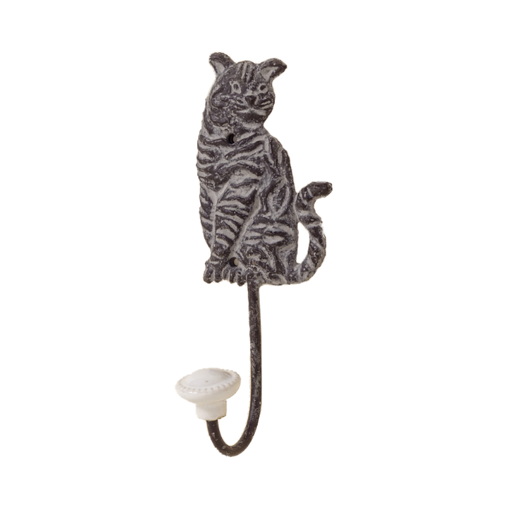 Garderoben Hakenleiste Katze Metall Kleiderhaken