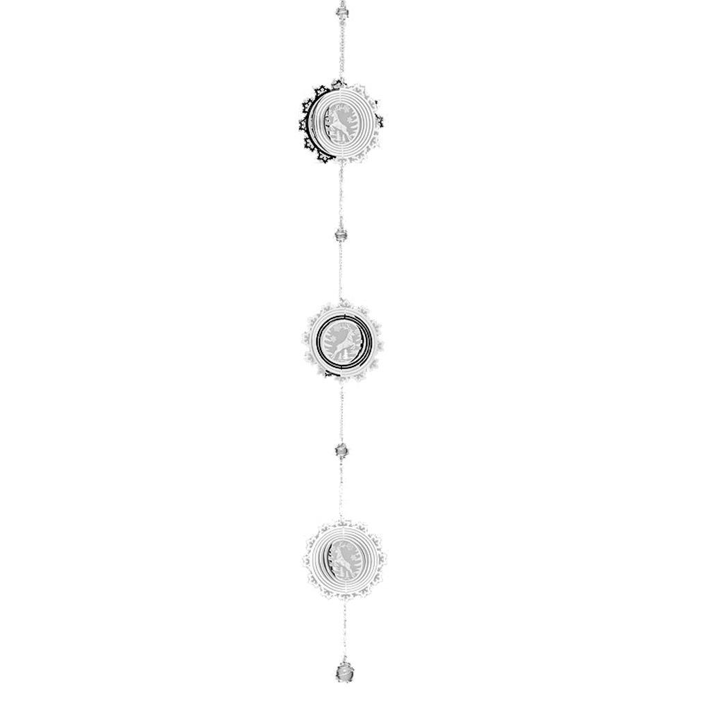 Girlande Windspiel Weihnachten Schneeflocke mit Hirsch aus Metall silber