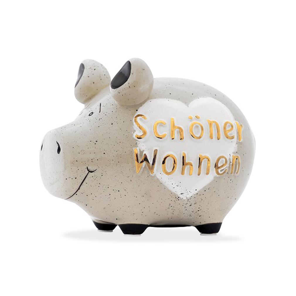 Sparschwein schöner Wohnen Spardose Sparbüchse Keramik Geldgeschenk Deko