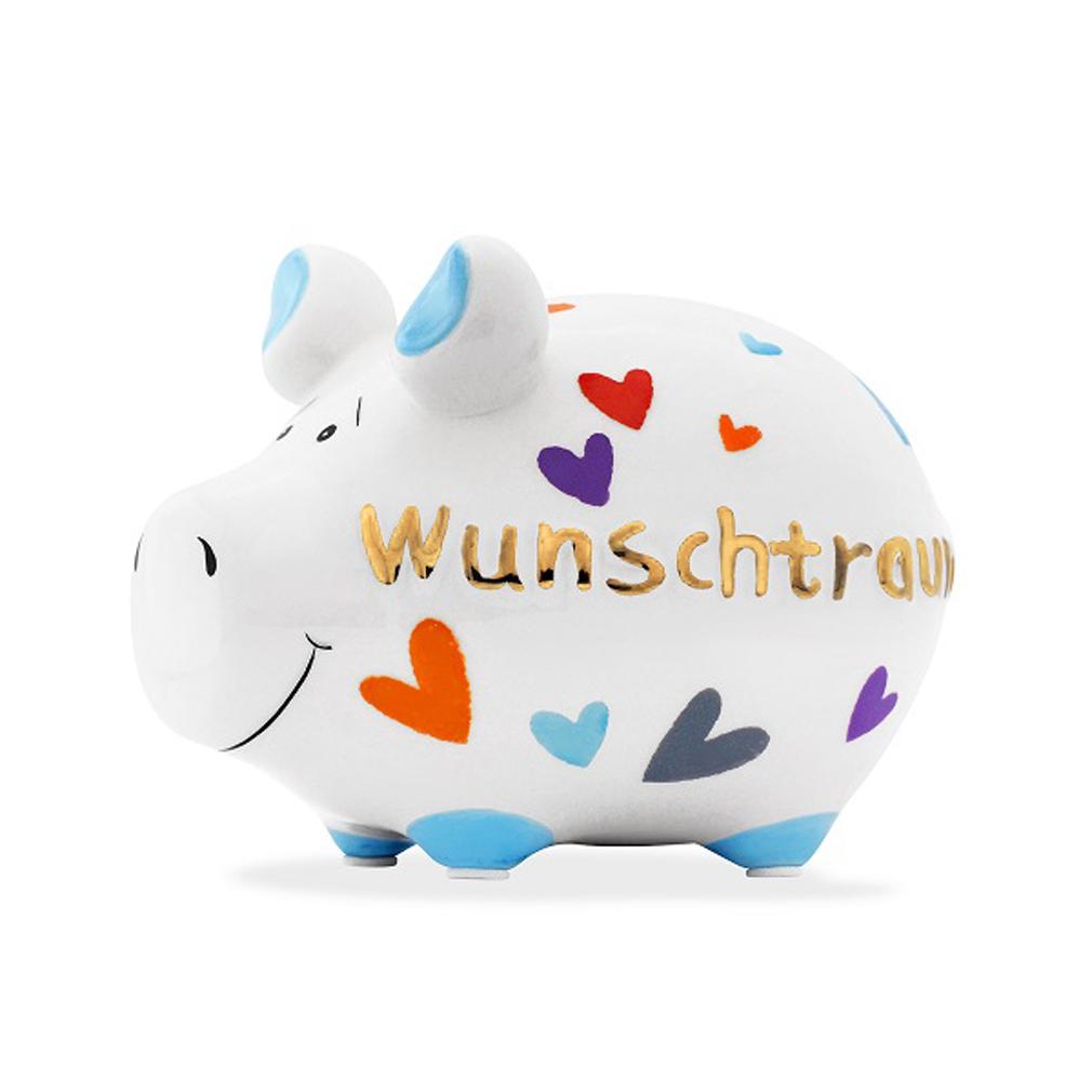 Sparschwein Wunschtraum Spardose Sparbüchse Keramik Geldgeschenk Traumerfüller