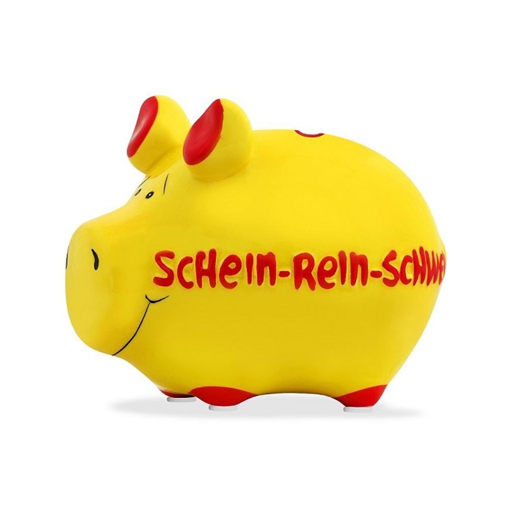"""Sparschwein Spardose Sparbüchse Keramik Kasse Geldgeschenk """"Schein-Rein-Schwein"""""""