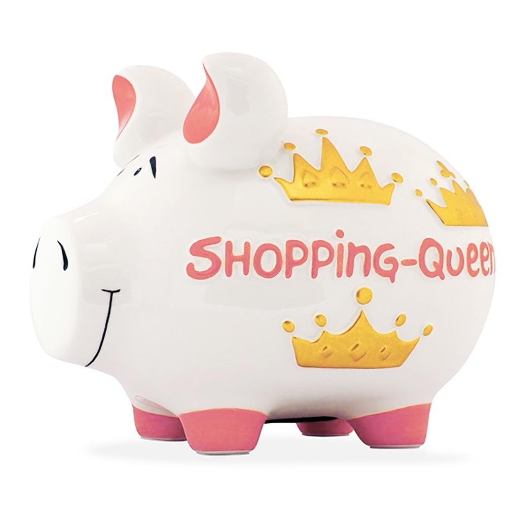 Sparschwein Shopping Queen Spardose Sparbüchse Keramik Geldgeschenk