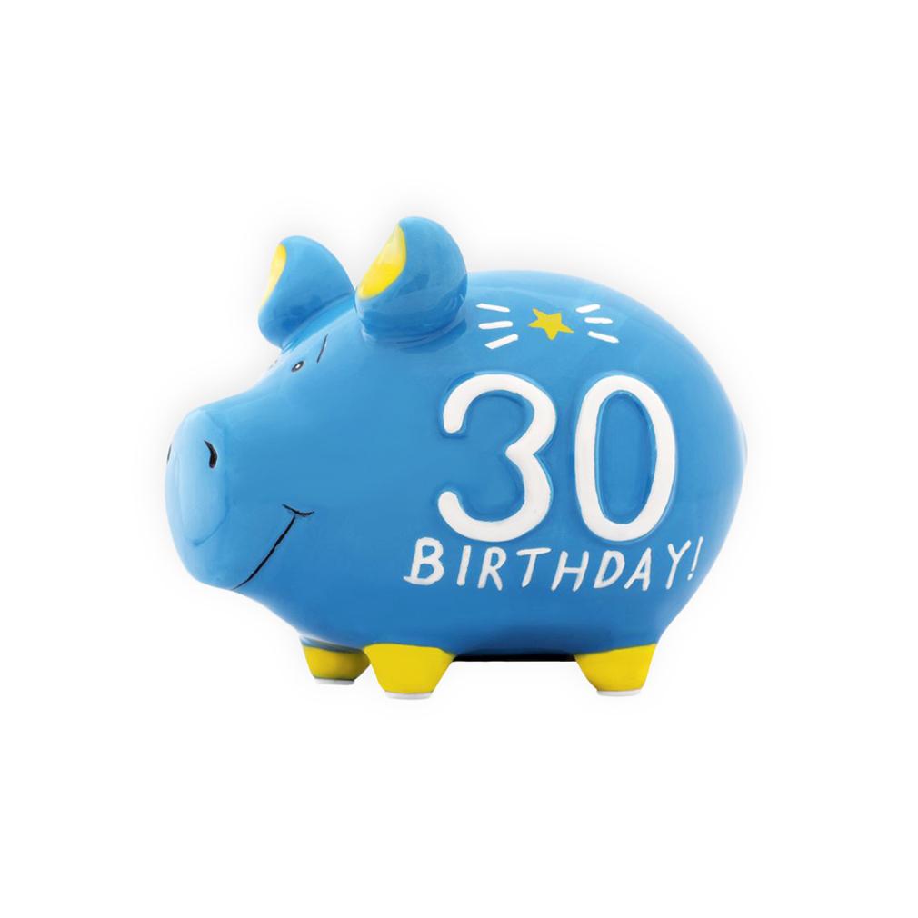 Sparschwein Geburtstag 30 Jahre Spardose Sparbüchse Keramik Geldgeschenk