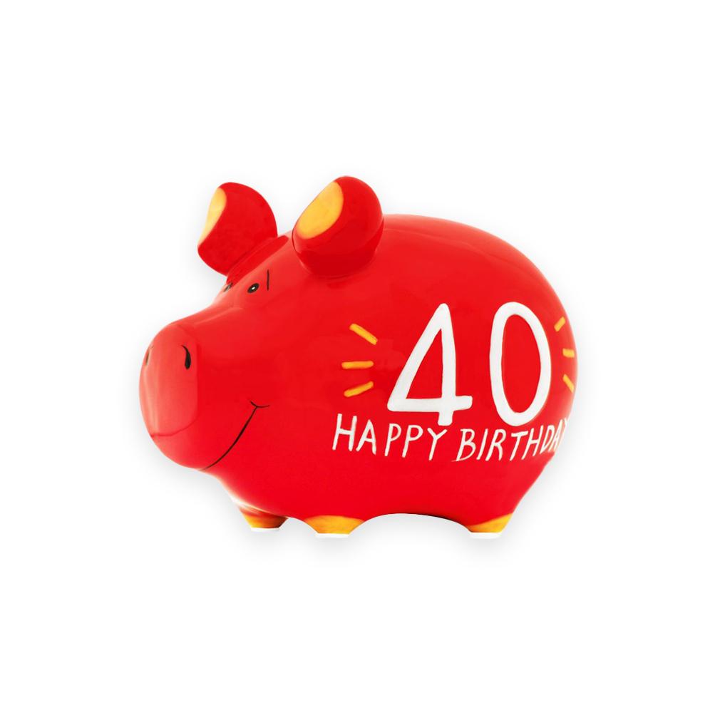 Sparschwein Geburtstag 40 Jahre Spardose Sparbüchse Keramik Geldgeschenk