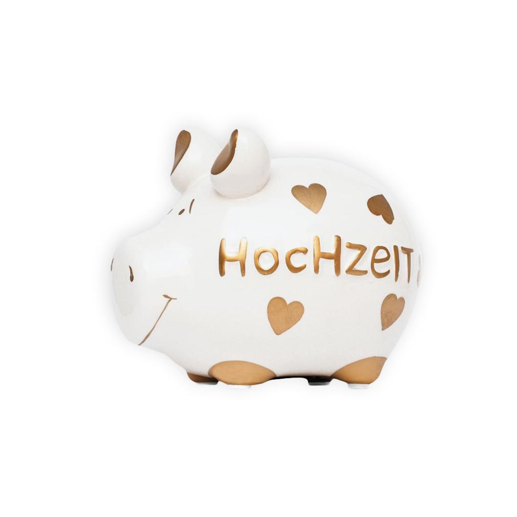 Sparschwein Hochzeit Spardose Sparbüchse Keramik Geldgeschenk