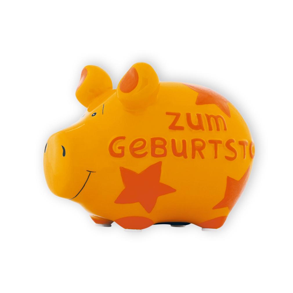 Sparschwein Zum Geburtstag Sterne Spardose Sparbüchse Keramik Geldgeschenk