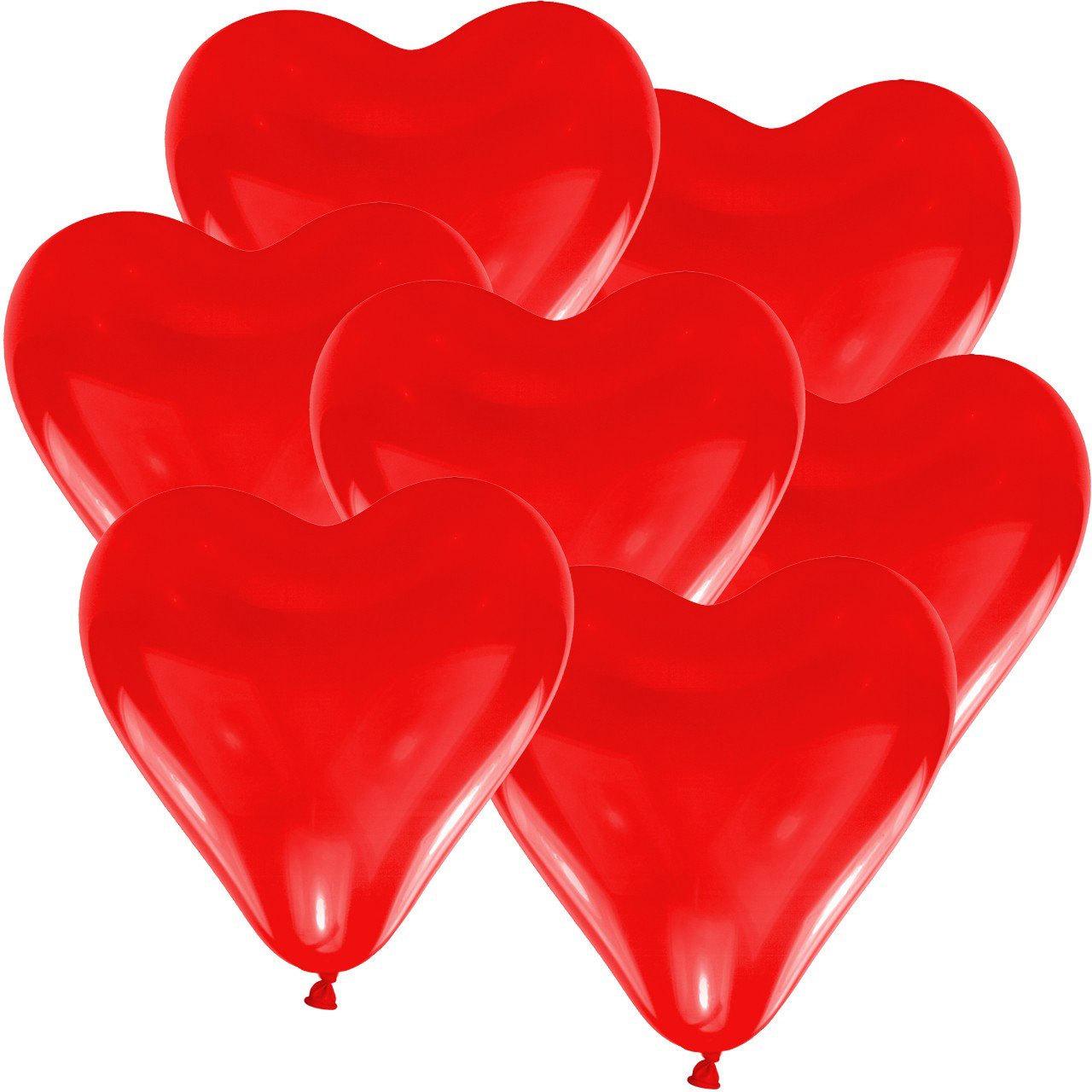 100 große Herzluftballons Herzballons Herzluftballon Luftballons Herz Luftballon