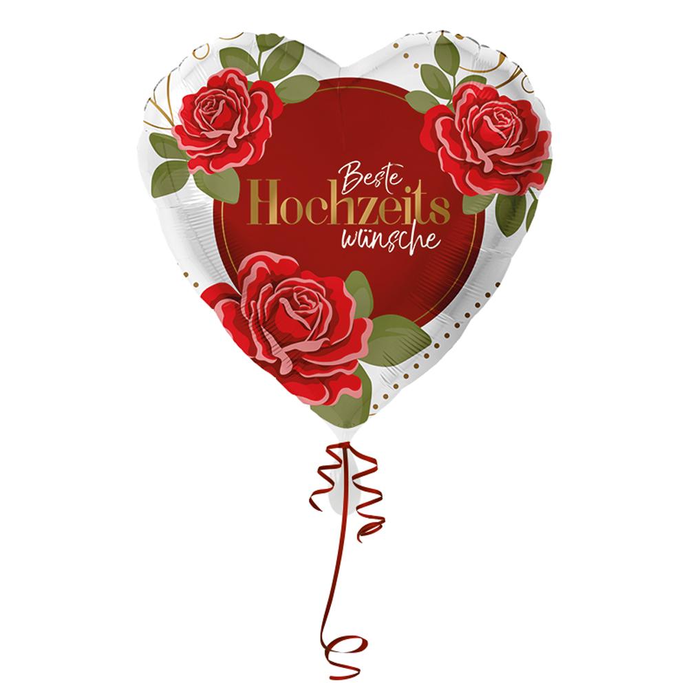 >>>Fertig heliumbefüllt <<<Folienballon großes Herz Hochzeit Ballon mit Helium