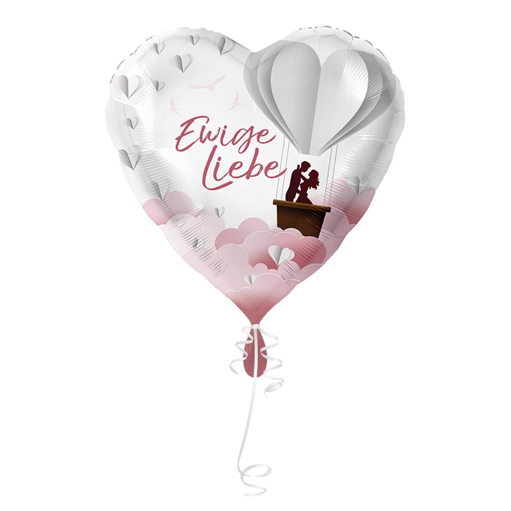 >>>Fertig heliumbefüllt<<< Folienballon großes Herz Liebe Ballon mit Helium