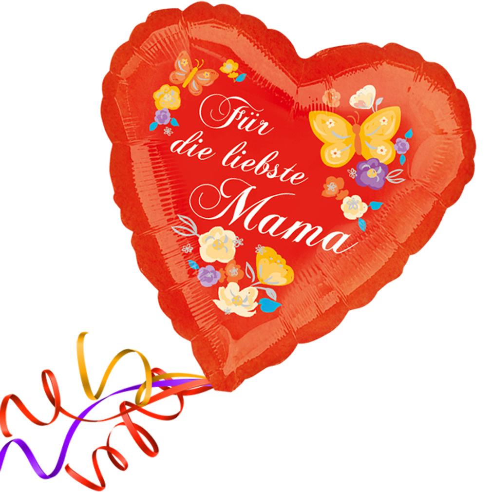 > Fertig Heliumbefüllt  < Großes Herz Folienballon rote Herzen Ballon Muttertag