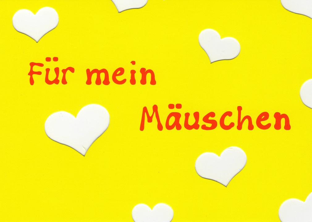 Postkarten mit Herz Maus Karte für Valentinstag Hochzeit Geburtstag Liebe
