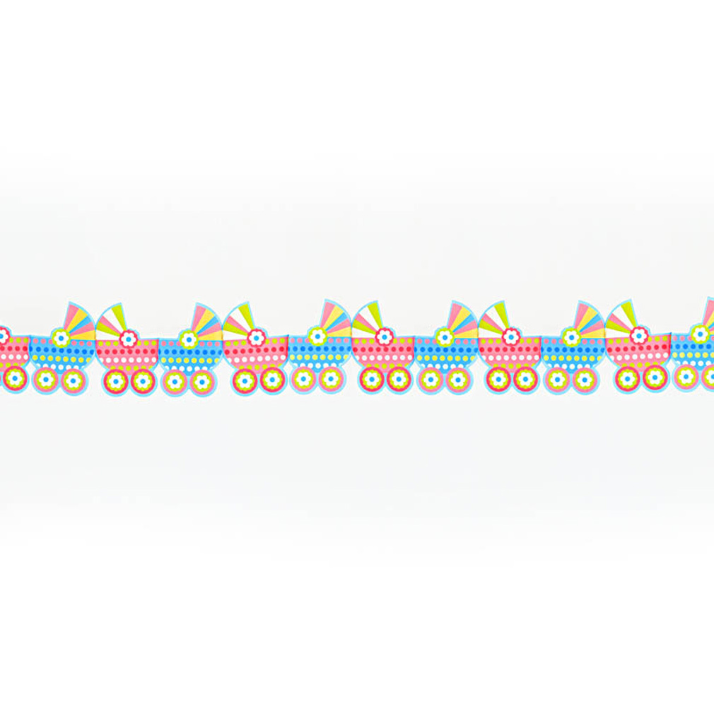 Girlande Kinderwagen zur Geburt Dekoration Junge Mädchen Baby