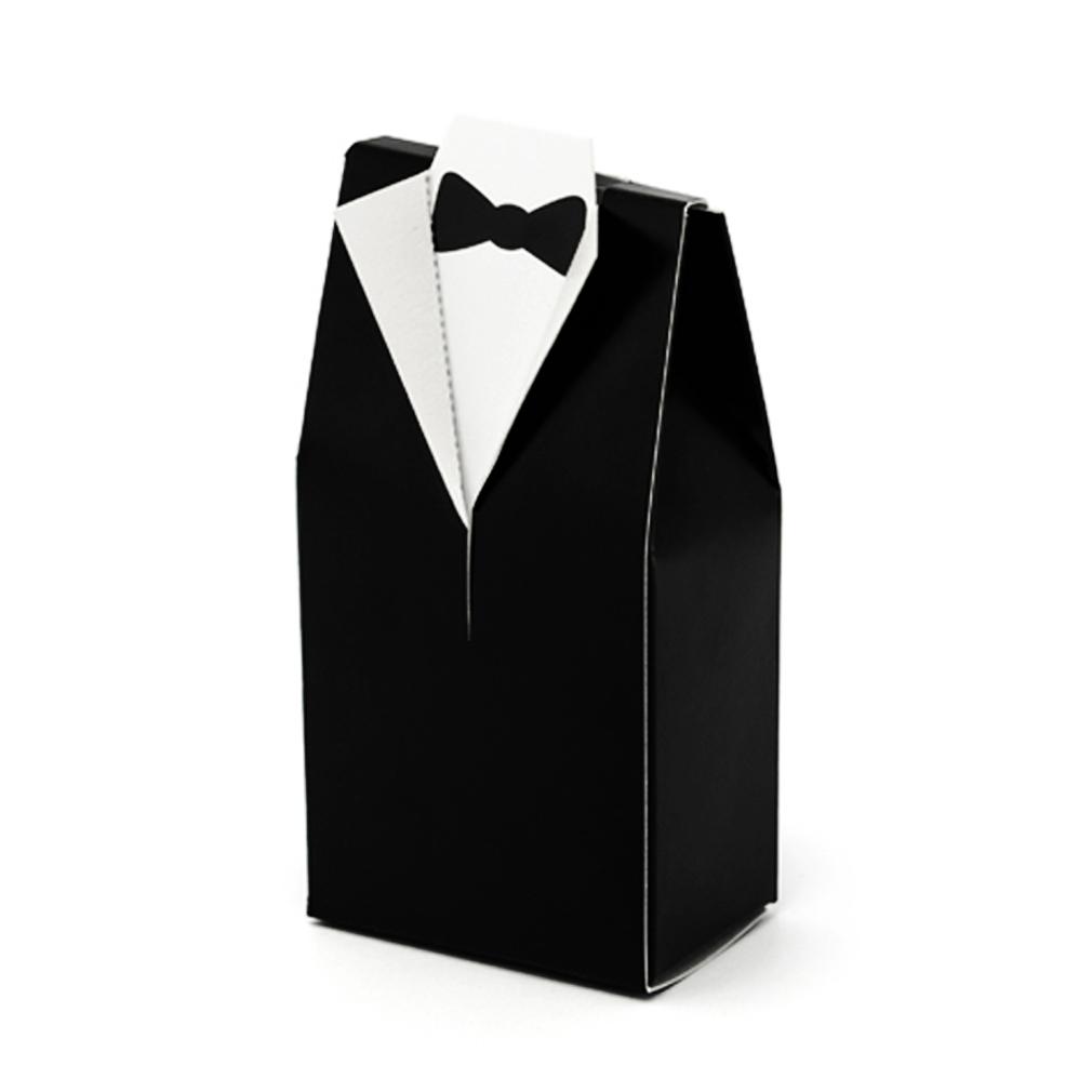 Geschenkbox 10er Set Bräutigam Gastgeschenk Hochzeit Anzug-Form