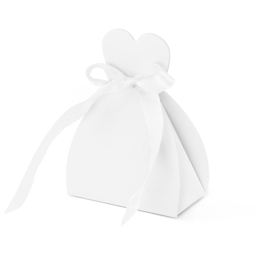 Geschenkbox 10er Set  Braut Gastgeschenk Hochzeit Herz Herzform