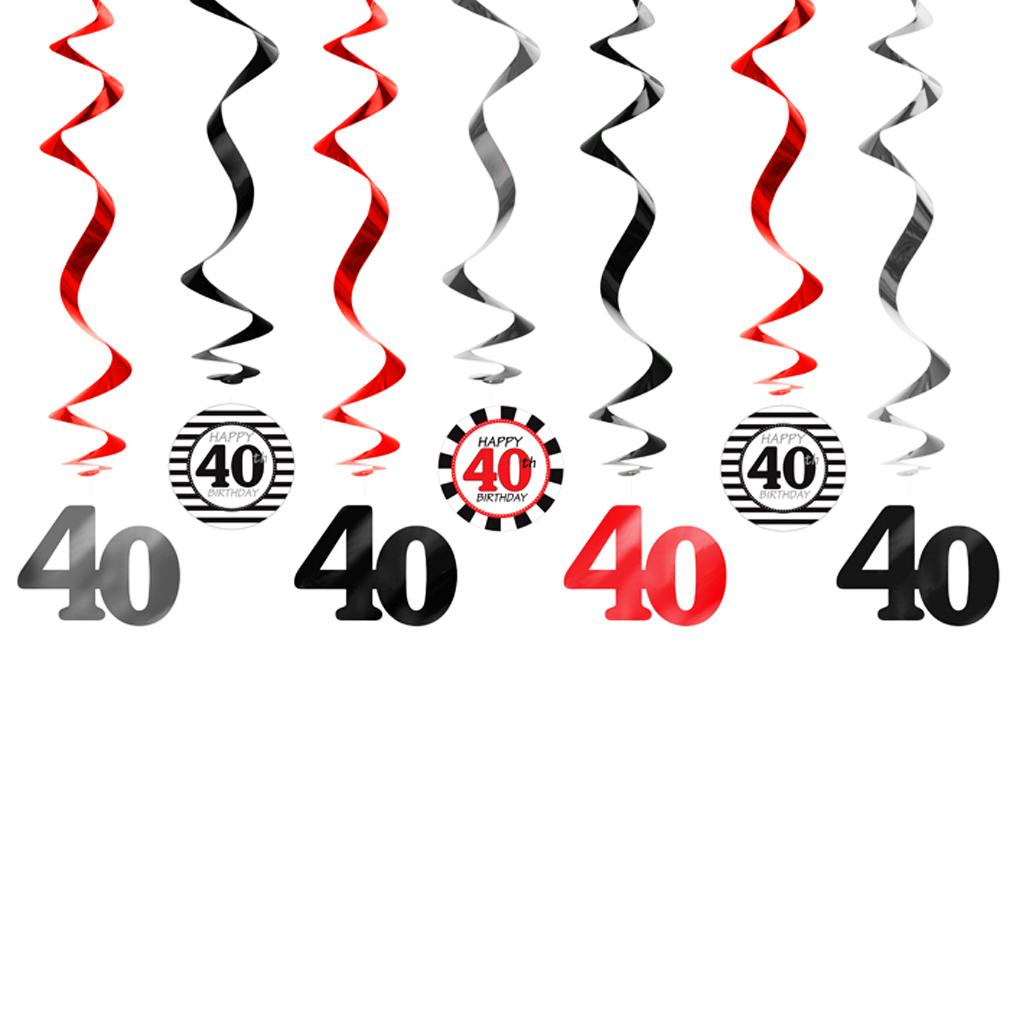 Girlande 40 Dekoration zum Geburtstag Jubiläum Geburtstags-Feier-Party