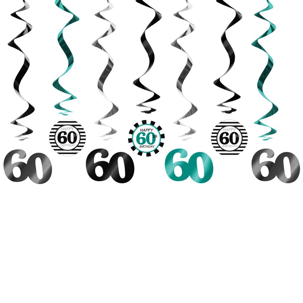 Girlande 60 Dekoration zum Geburtstag Jubiläum Geburtstags-Feier-Party