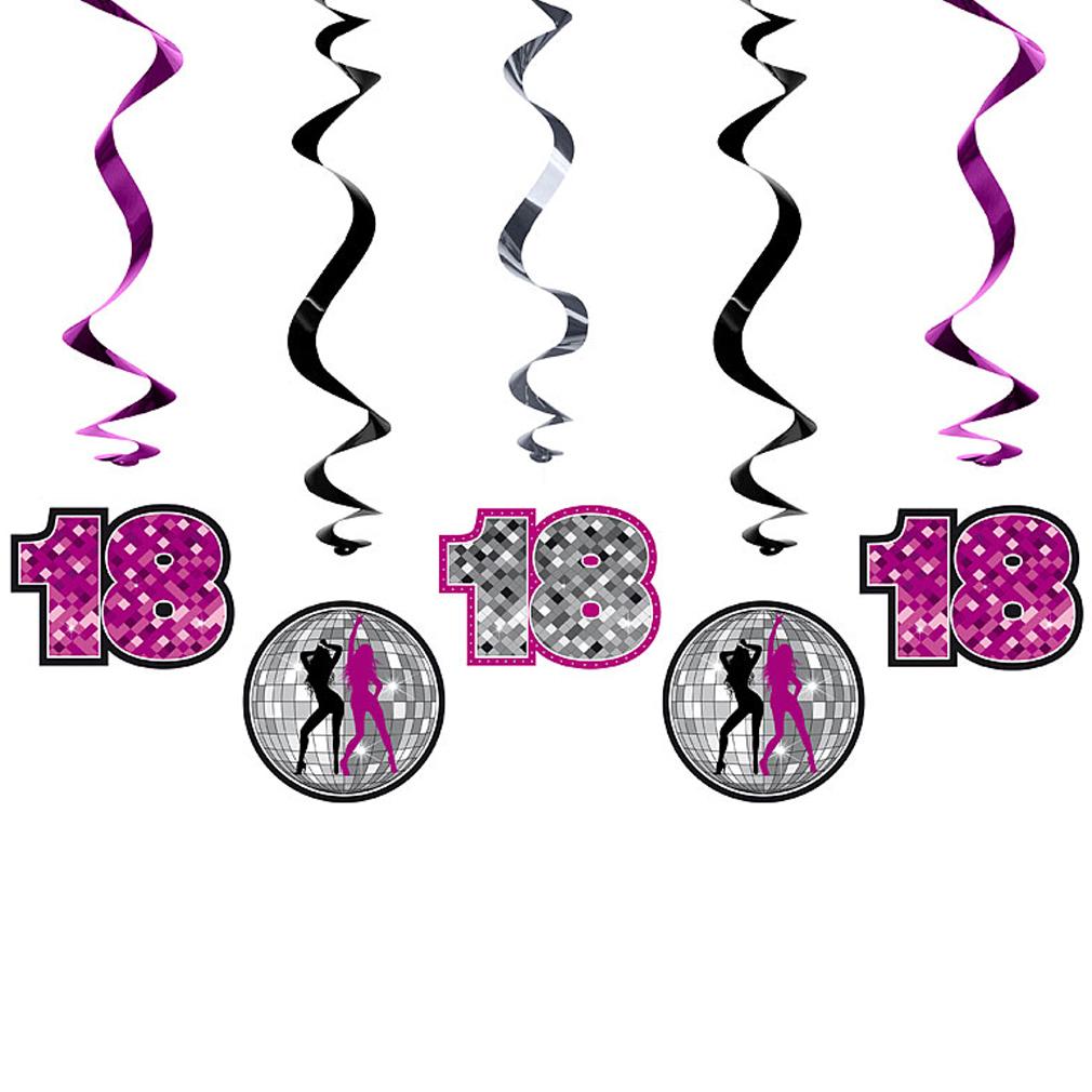 Girlande 18 zum 18. Geburtstag Dekoration Geburtstags-Feier-Party