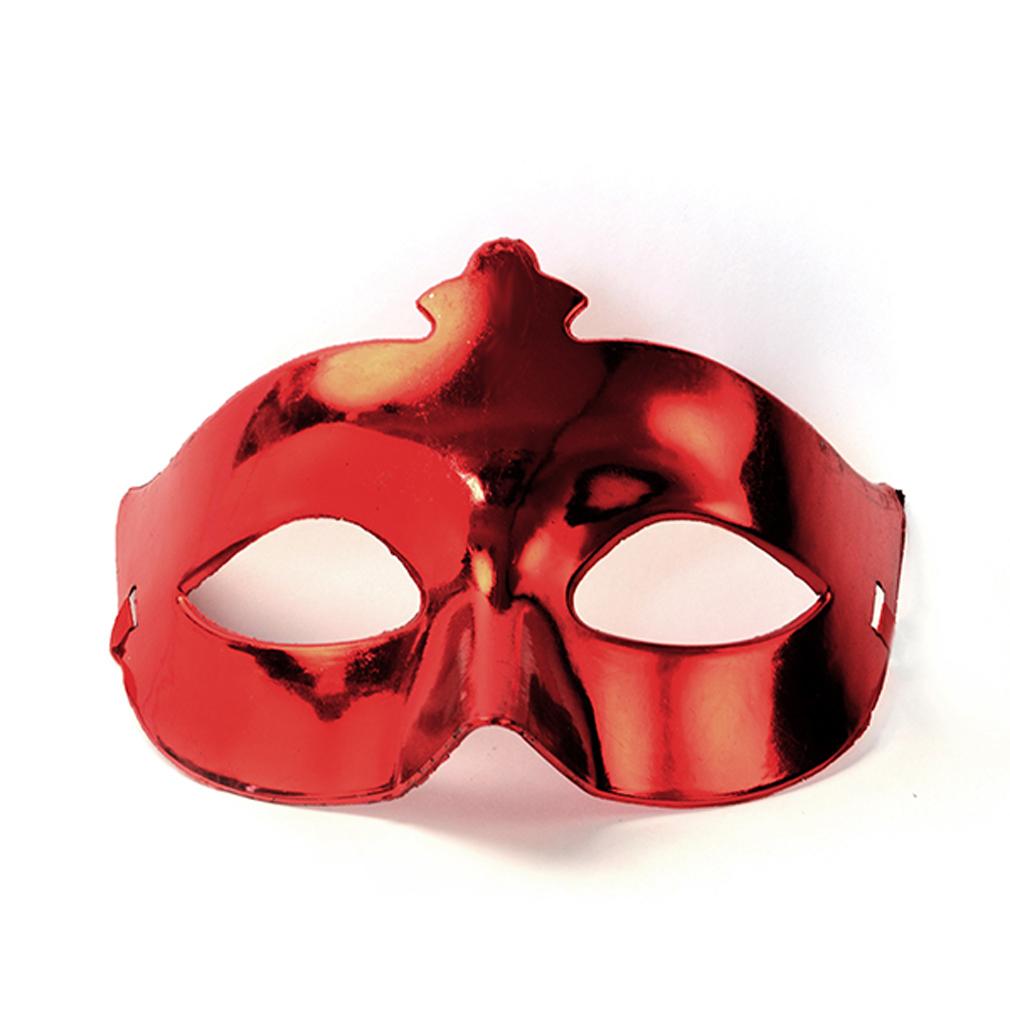 Party-Maske rot Fasching Maskenball Kaneval Gesichtsmaske Venedig Augenmaske